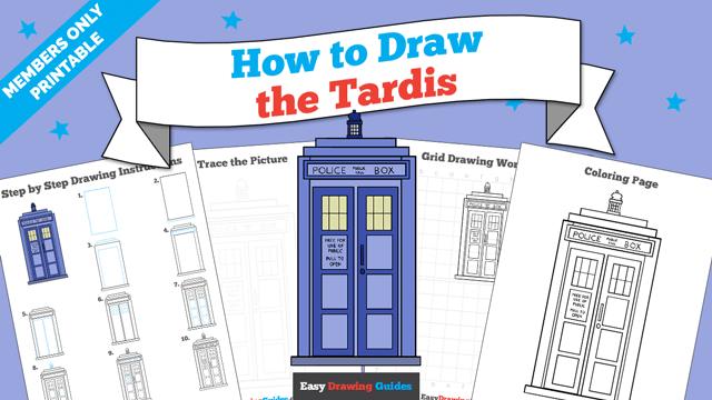 download a printable PDF of Tardis drawing tutorial