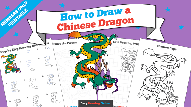 download a printable PDF of Chinese Dragon drawing tutorial