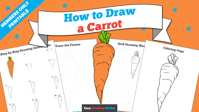 download a printable PDF of Carrot drawing tutorial
