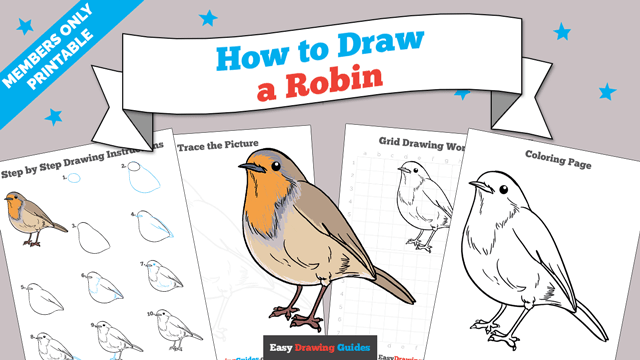 download a printable PDF of Robin drawing tutorial