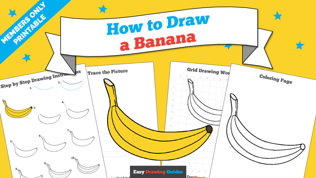 download a printable PDF of Banana drawing tutorial