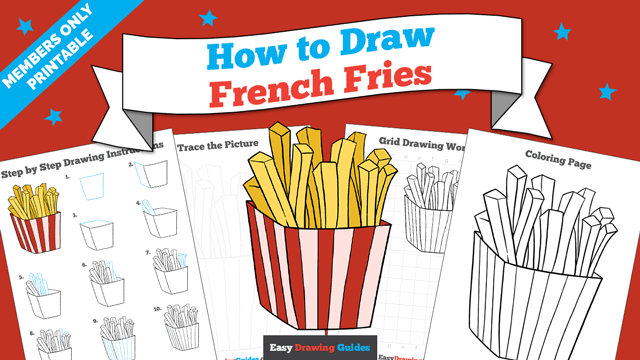 download a printable PDF of French Fries drawing tutorial