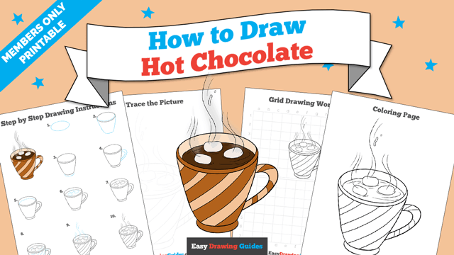 download a printable PDF of Hot Chocolate drawing tutorial