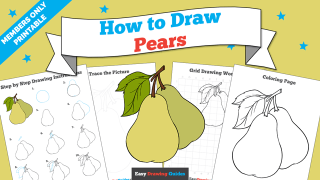 download a printable PDF of Pears drawing tutorial