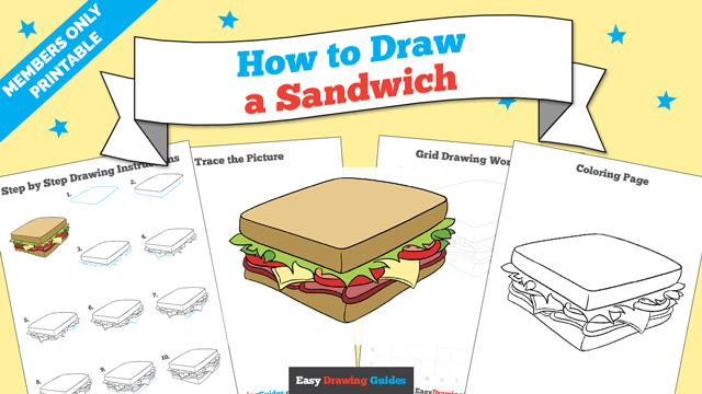 download a printable PDF of Sandwich drawing tutorial