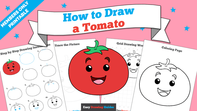 download a printable PDF of Tomato drawing tutorial