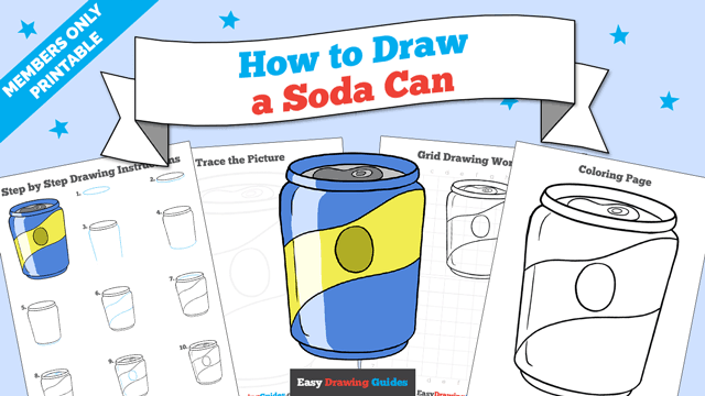 download a printable PDF of Soda Can drawing tutorial