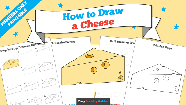 Printables thumbnail: How to draw a Cheese