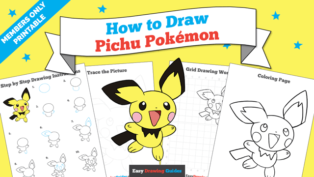download a printable PDF of Pichu drawing tutorial