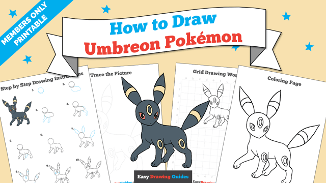 download a printable PDF of Umbreon drawing tutorial