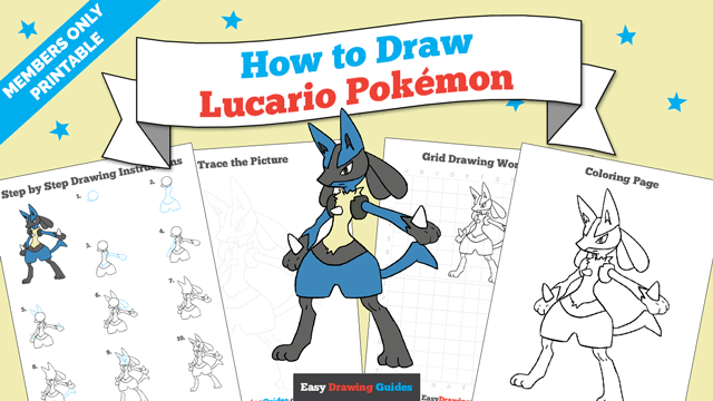download a printable PDF of Lucario drawing tutorial