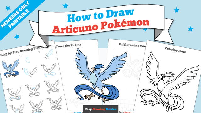 download a printable PDF of Articuno drawing tutorial