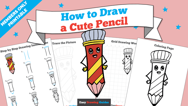 download a printable PDF of Cute Pencil drawing tutorial