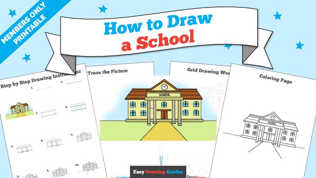 download a printable PDF of School drawing tutorial