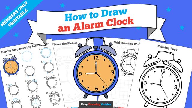 Printables thumbnail: How to draw an Alarm Clock