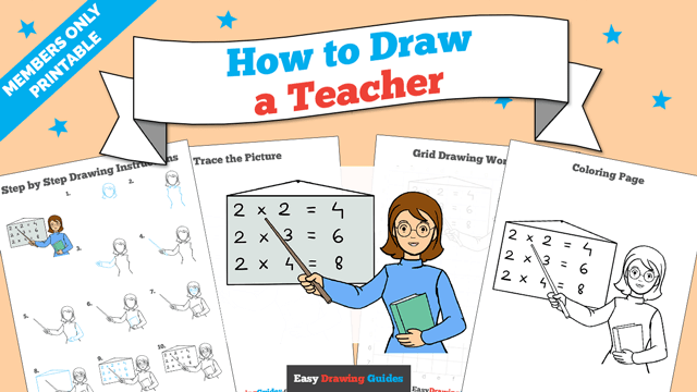 download a printable PDF of Teacher drawing tutorial