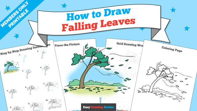 download a printable PDF of Falling Leaves drawing tutorial