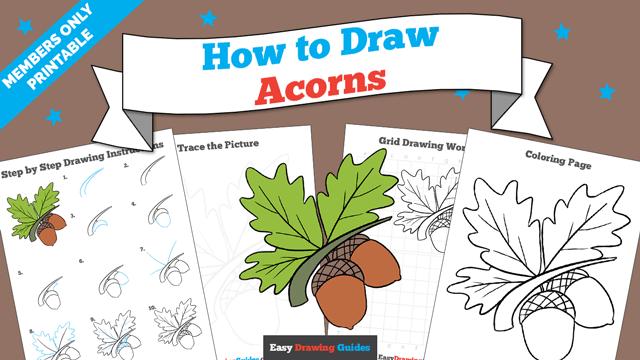 download a printable PDF of Acorns drawing tutorial
