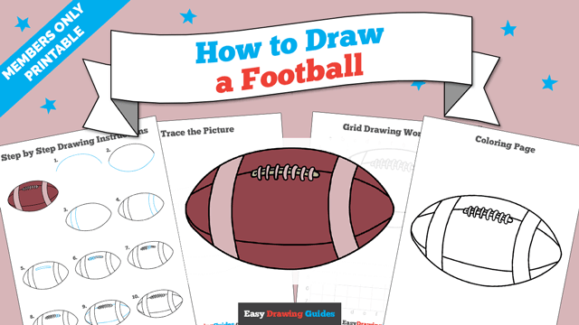 download a printable PDF of Football drawing tutorial