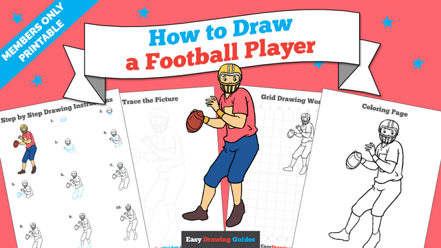 How to Draw a Football Player - Really Easy Drawing Tutorial