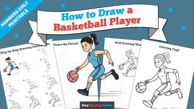 download a printable PDF of Basketball Player drawing tutorial