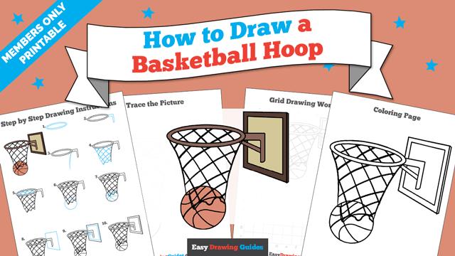 download a printable PDF of Basketball Hoop drawing tutorial