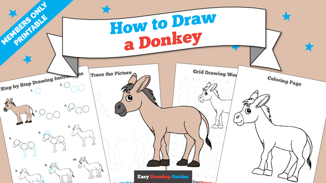 Printables thumbnail: How to draw a Donkey