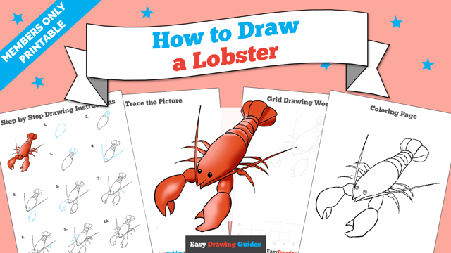 Printables thumbnail: How to draw a Lobster