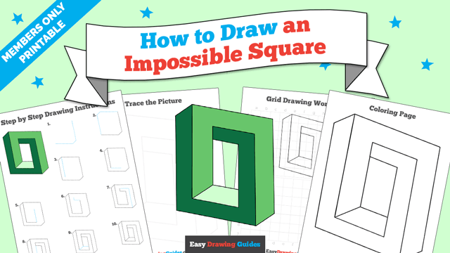 download a printable PDF of Impossible Square drawing tutorial