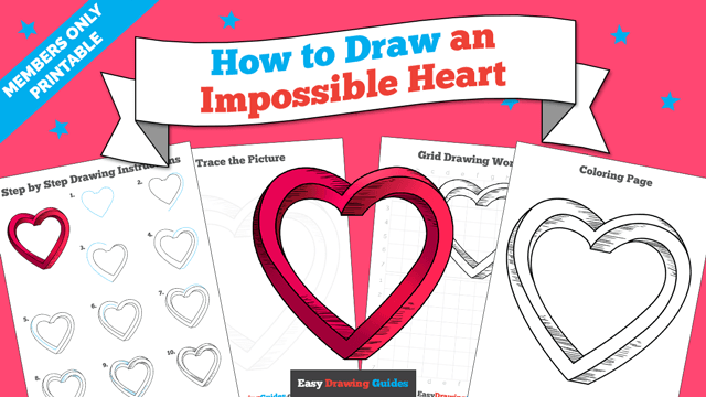 download a printable PDF of Impossible Heart drawing tutorial