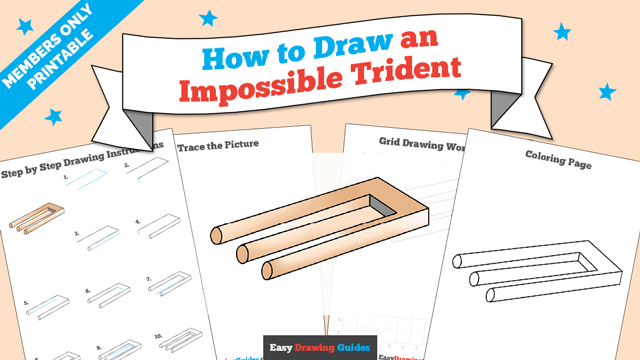 download a printable PDF of Impossible Trident drawing tutorial