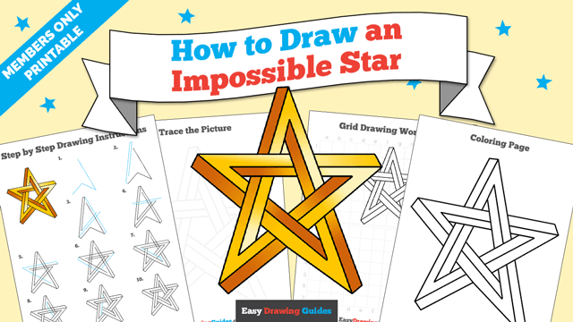 download a printable PDF of Impossible Star drawing tutorial