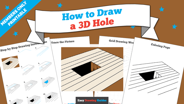 download a printable PDF of 3D Hole drawing tutorial