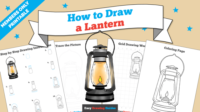 download a printable PDF of Lantern drawing tutorial