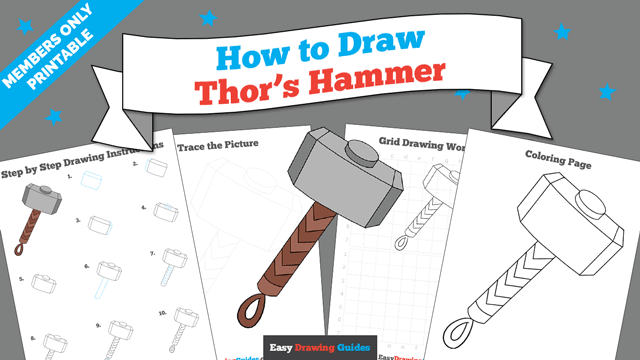 download a printable PDF of Thor's Hammer drawing tutorial