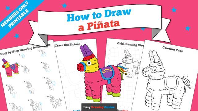 download a printable PDF of Piñata drawing tutorial