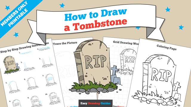 download a printable PDF of Tombstone drawing tutorial