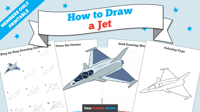 download a printable PDF of Jet drawing tutorial