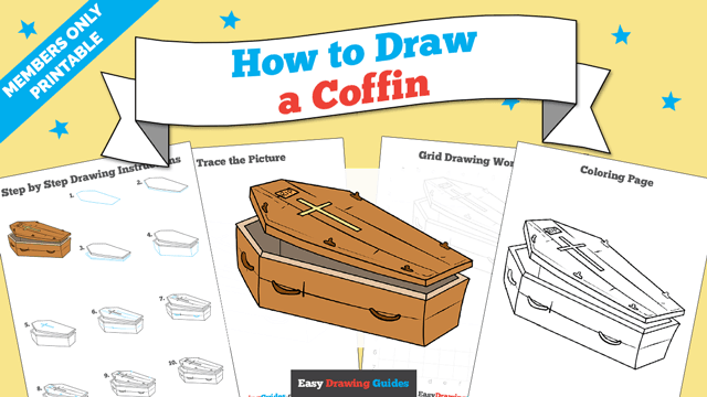 download a printable PDF of Coffin drawing tutorial