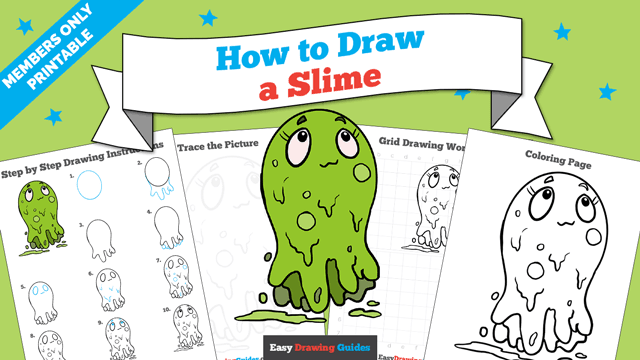 download a printable PDF of Slime drawing tutorial