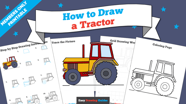 download a printable PDF of Tractor drawing tutorial