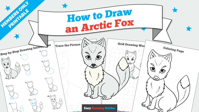 download a printable PDF of Arctic Fox drawing tutorial