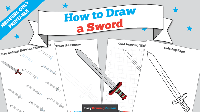 download a printable PDF of Sword drawing tutorial