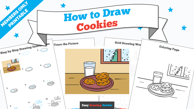 download a printable PDF of Cookies drawing tutorial