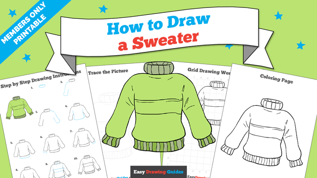 download a printable PDF of Sweater drawing tutorial