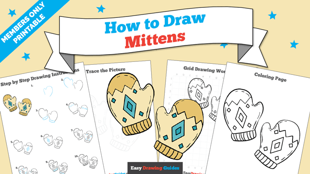 download a printable PDF of Mittens drawing tutorial