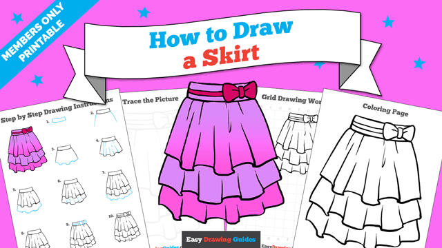download a printable PDF of Skirt drawing tutorial