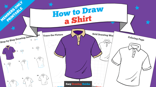 Printables thumbnail: How to draw a Shirt