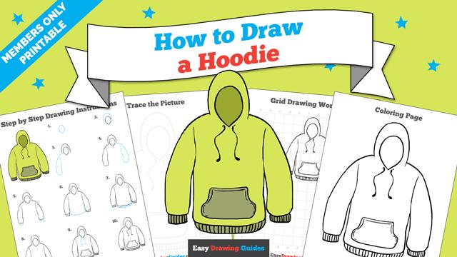 download a printable PDF of Hoodie drawing tutorial