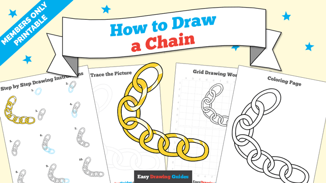 download a printable PDF of Chain drawing tutorial